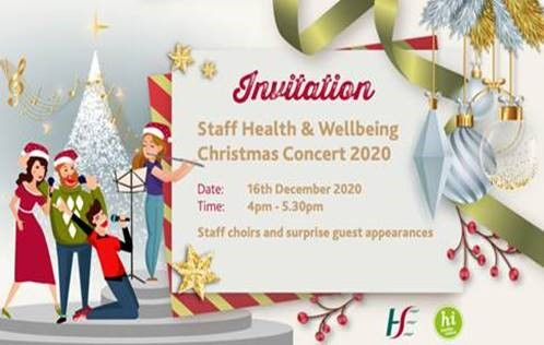 Staff Health and Wellbeing Christmas Concert 2020